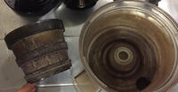 poškozený odšťavňovač